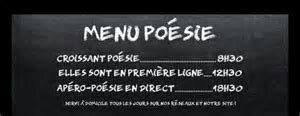 menu poésie