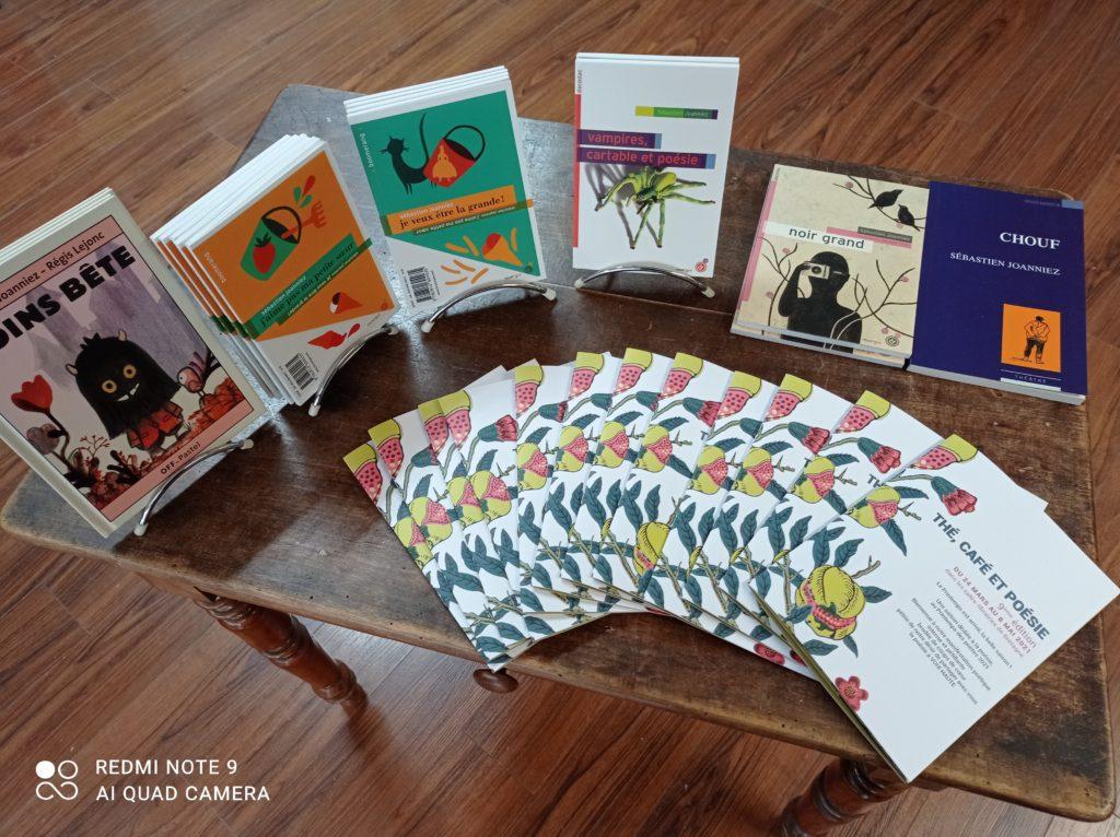 Thé, café et poésie - les livres de Sébastien Joanniez